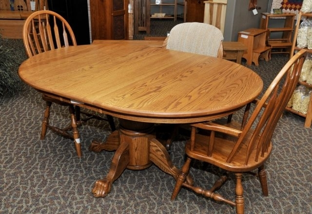 Amish Dining Set 050 – The Amish Connection | Solid Wood Furniture Pertaining To Solid Oak Dining Tables (Image 2 of 25)