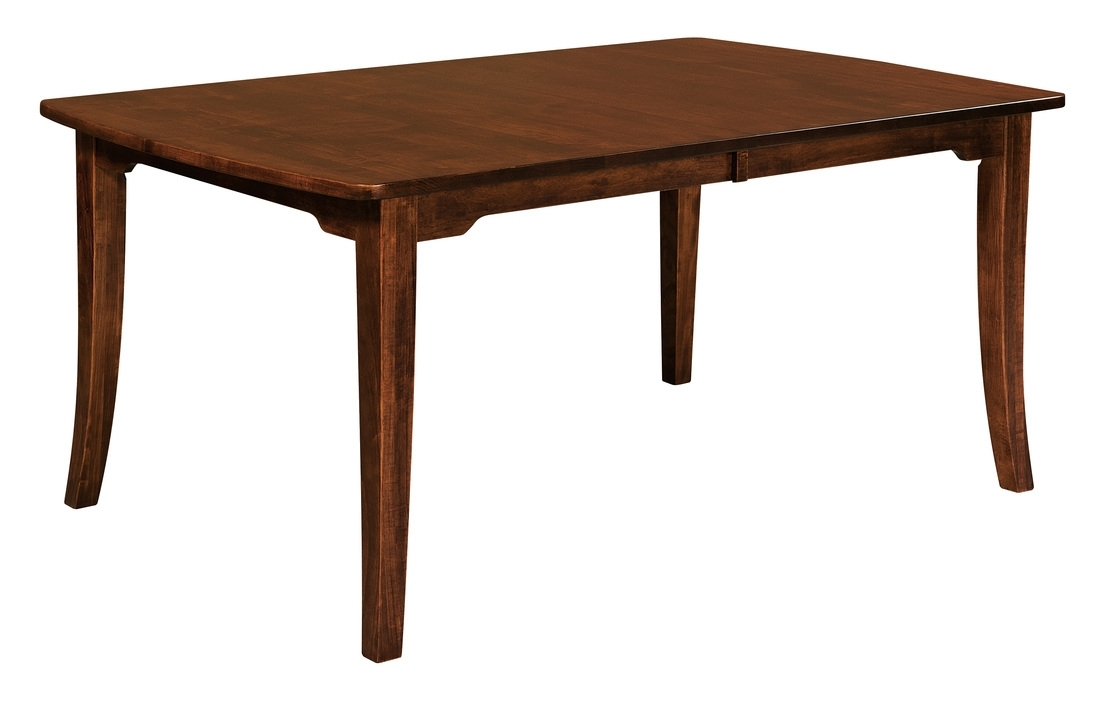 Amish Furniture: Hand Crafted, Solid Wood Dining Leg Tables – Amish Regarding Chandler Extension Dining Tables (Image 4 of 25)