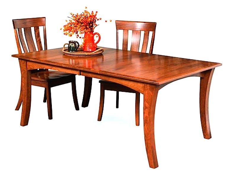 Amish Furniture: Hand Crafted, Solid Wood Dining Leg Tables Intended For Chandler Extension Dining Tables (View 10 of 25)