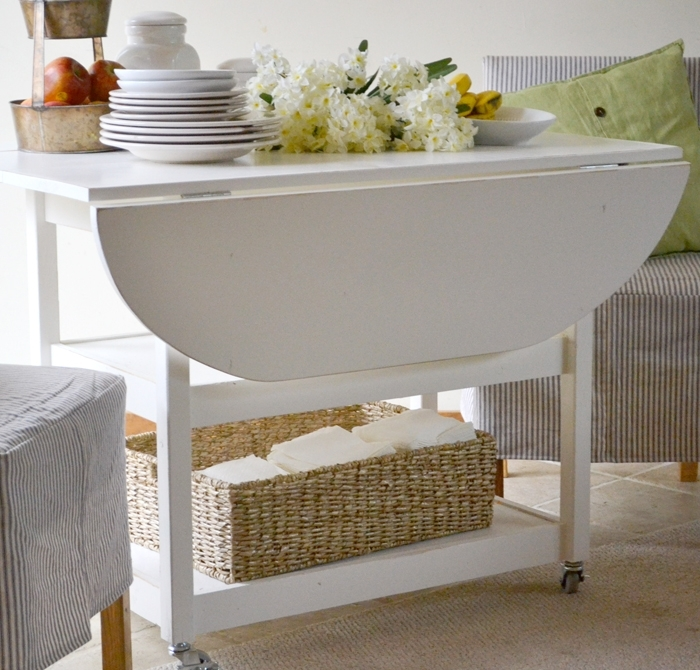 Ana White | Drop Leaf Round Storage Table – Diy Projects With Oval Folding Dining Tables (View 20 of 25)