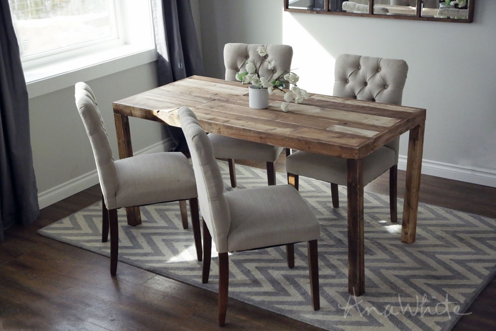 Ana White | Emmerson Parsons Table – Modern Reclaimed Wood Dining With Cheap Reclaimed Wood Dining Tables (Image 1 of 25)