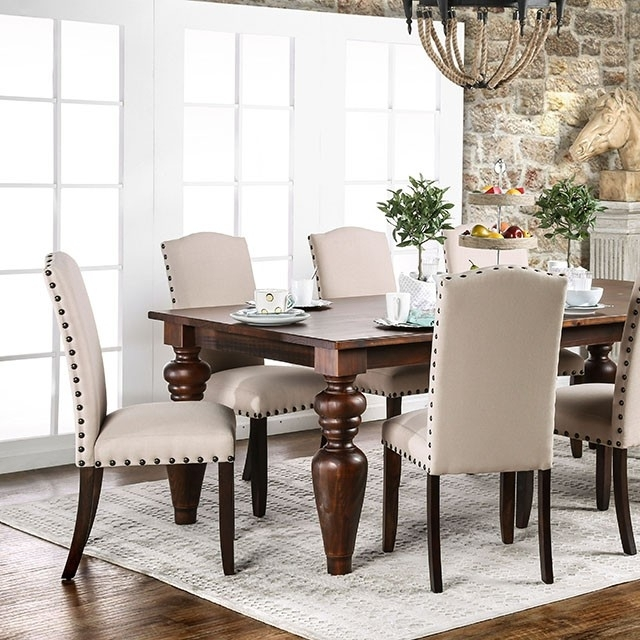 Anapolis Transitional Dark Walnut Dining Table Set – Shop For Inside Walnut Dining Table Sets (Image 2 of 25)