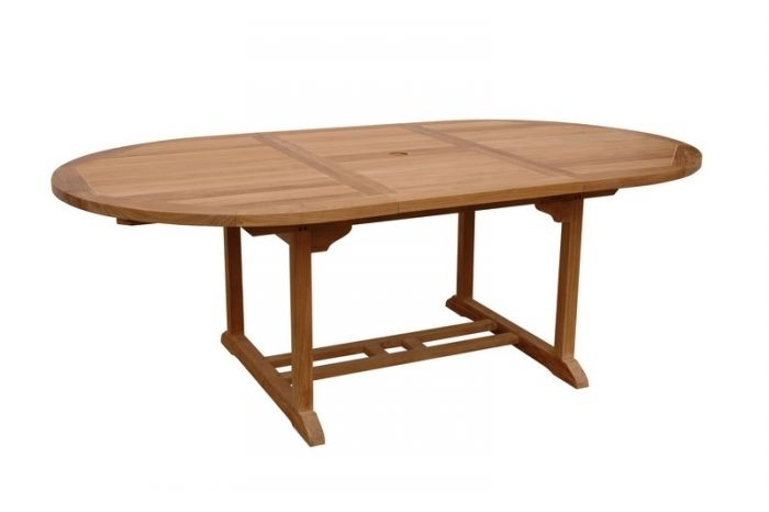 """Anderson Teak Tbx 087Vt Bahama 87"""" Oval Extension Dining Table Extra With Natural Wood & Recycled Elm 87 Inch Dining Tables (Image 1 of 25)"""