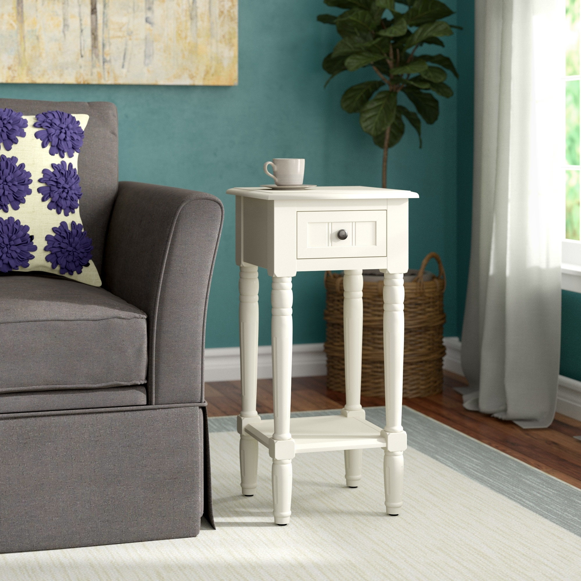 Andover Mills Adeline End Table & Reviews   Wayfair Throughout Adeline 3 Piece Sectionals (Image 7 of 25)