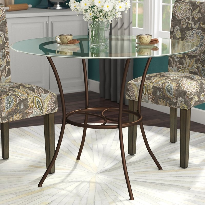 Andover Mills Jefferson Dining Table & Reviews   Wayfair In Jefferson Extension Round Dining Tables (Image 4 of 25)
