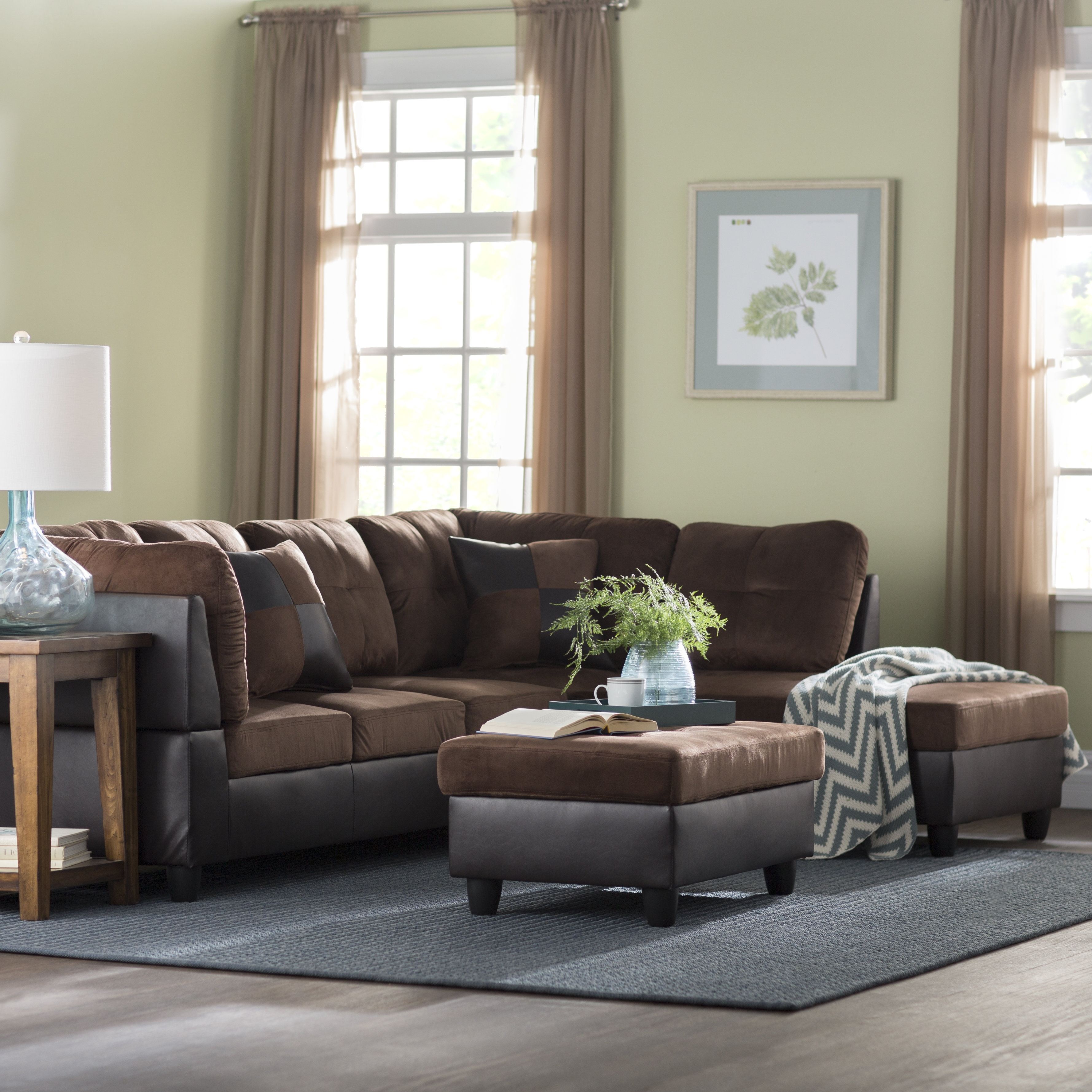 Andover Mills Russ Sectional With Ottoman & Reviews   Wayfair Intended For Blaine 4 Piece Sectionals (Image 1 of 25)