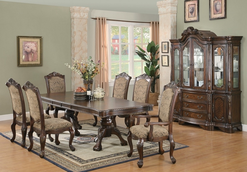 Andrea Collection 103111 Formal Dining Table Set, Coaster Furniture Throughout Dining Tables Sets (Image 2 of 25)