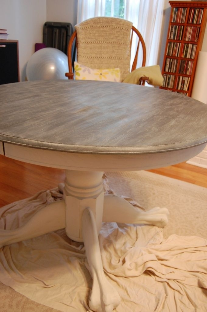 Annie Sloan – Technique For A Limed Oak Table Plus | Current Paint With Regard To Washed Old Oak & Waxed Black Legs Bar Tables (Image 4 of 25)