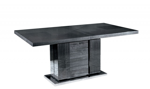 Antibes – 160Cm Extendable Table With 1 Leaf – Fishpools For Black Extending Dining Tables (Image 1 of 25)