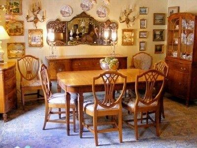 Antique 1930's Satinwood Dining Room Suite | Room, Antique Furniture For Ebay Dining Suites (Image 8 of 25)