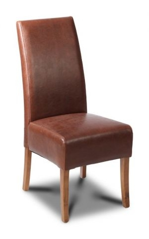 Antique Brown Leather Dining Chair Intended For Brown Leather Dining Chairs (Image 3 of 25)