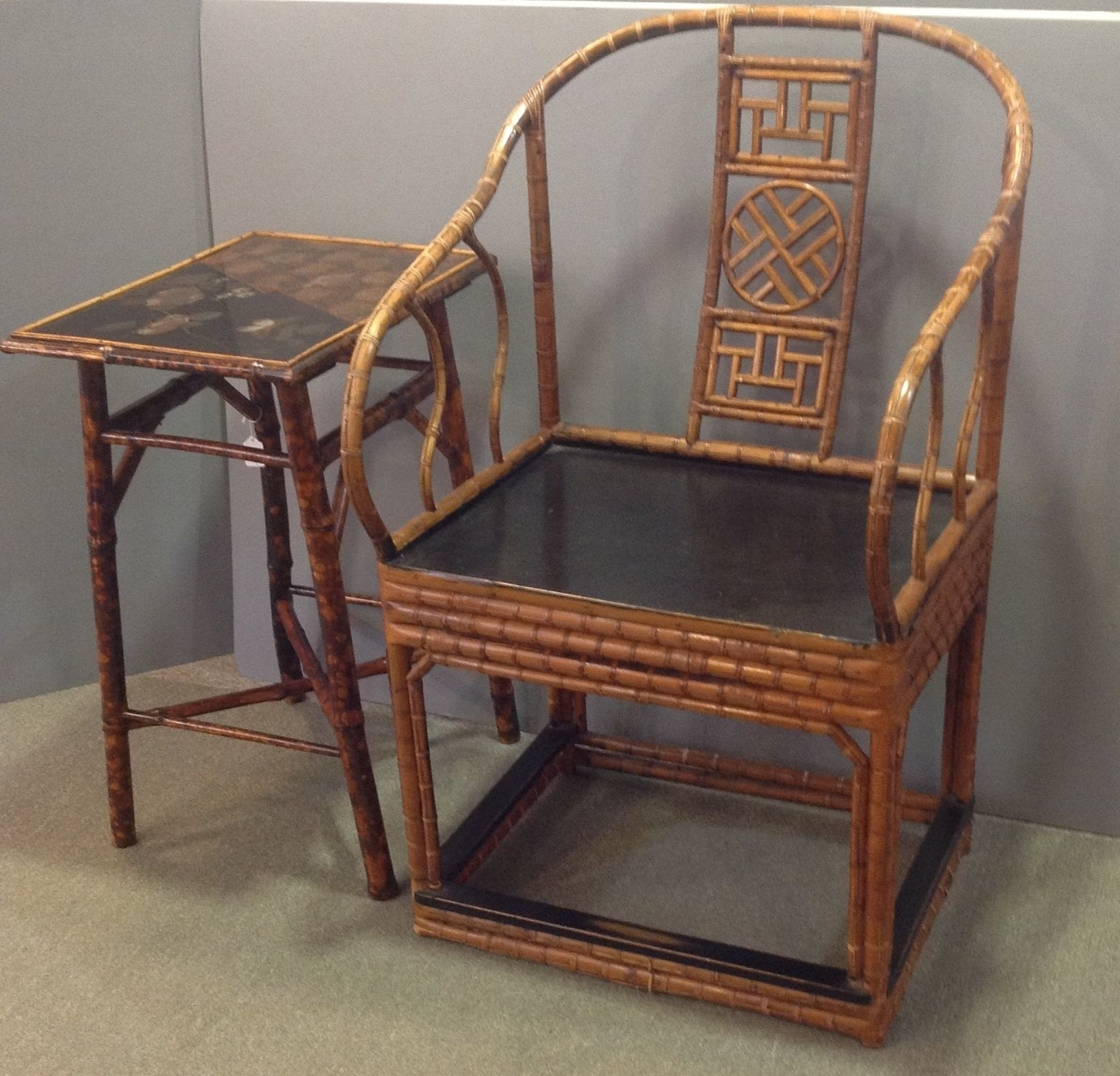 Antique Chinese Bamboo Furniture | Pair Of Chinese Bamboo Chairs Regarding Taron 3 Piece Power Reclining Sectionals With Right Facing Console Loveseat (Image 3 of 20)