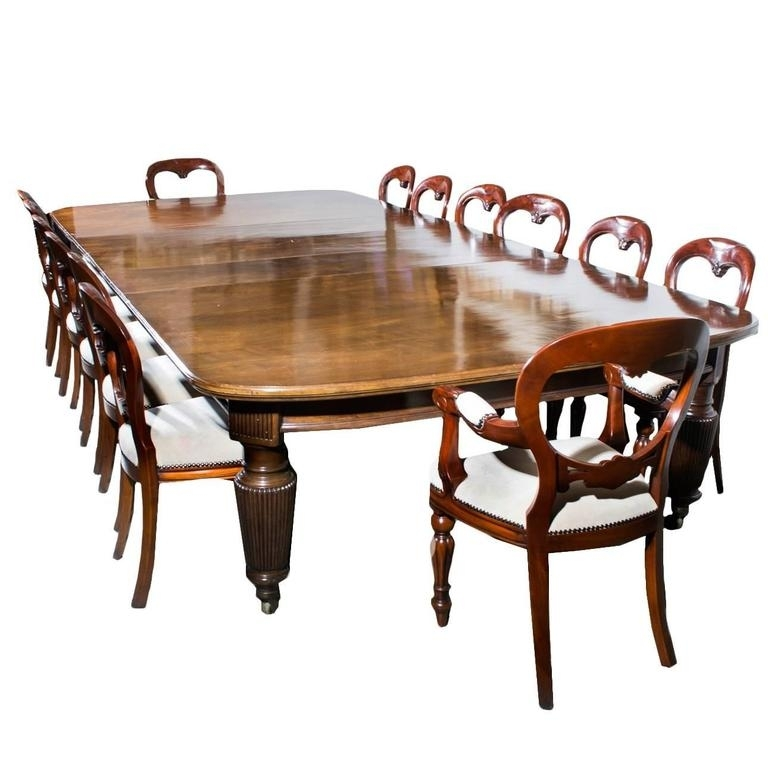 Antique Extending Dining Table 14 Chairs, Circa 1880 At 1Stdibs For Extending Dining Tables With 14 Seats (Image 5 of 25)