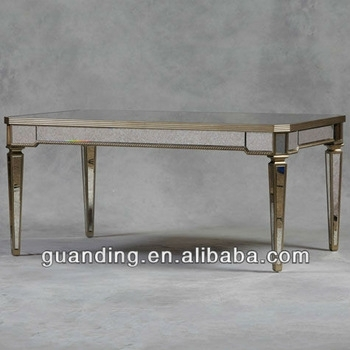 Antique Mirrored Glass Dining Table – Buy Glass Mirror Bedside Intended For Mirror Glass Dining Tables (Image 3 of 25)