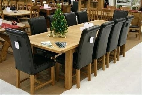 Antique Oak 10 Seater Dining Table Round 8 Extending Kitchen Scenic Intended For Extending Dining Table With 10 Seats (View 17 of 25)