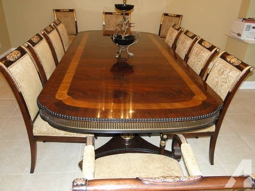 Antique Penn Table Company Walnut Dining Table And Chairs For Sale Throughout Victor Dining Tables (View 11 of 25)