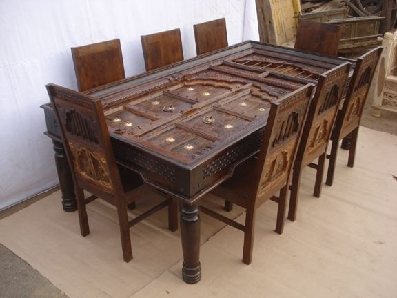 Antique Reproduction Dining Table & Chairs3 | For The Home In 2018 Within Indian Dining Room Furniture (Image 5 of 25)