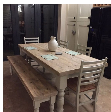 Antique Solid Wood Stylish 6 8 Seater Dining Table, White Dining Regarding White 8 Seater Dining Tables (Image 5 of 25)