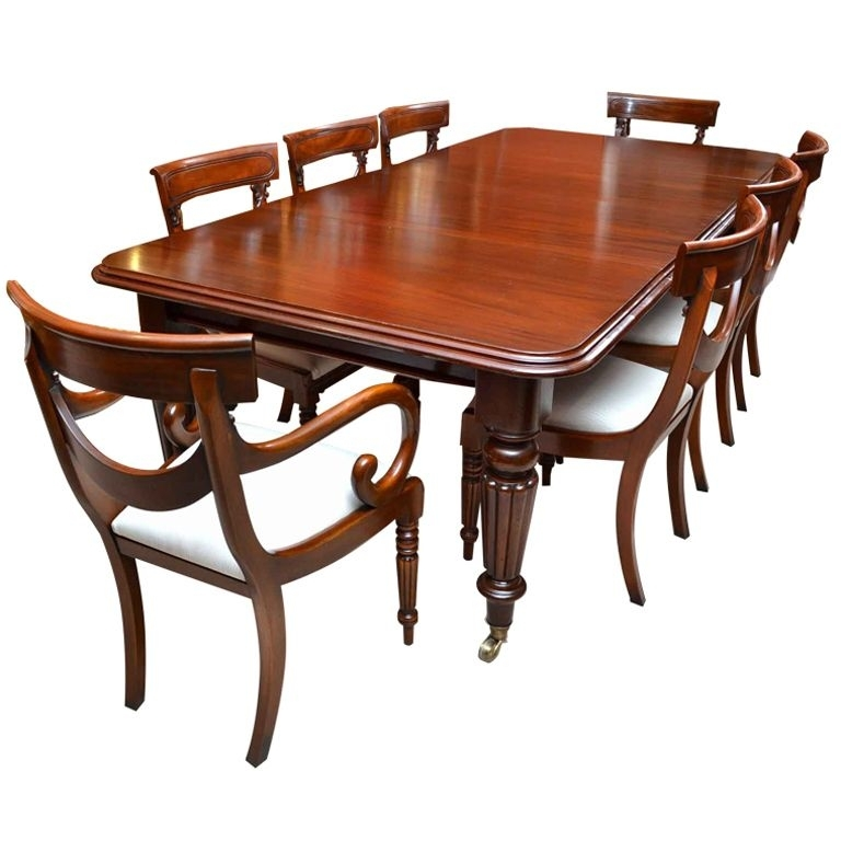 Antique Victorian 8 Ft Mahogany Dining Table And 8 Chairs | Future within Mahogany Dining Table Sets
