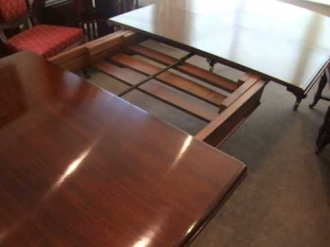Antique Victorian Mahogany Extending Dining Table – Youtube Regarding Mahogany Extending Dining Tables (View 8 of 25)