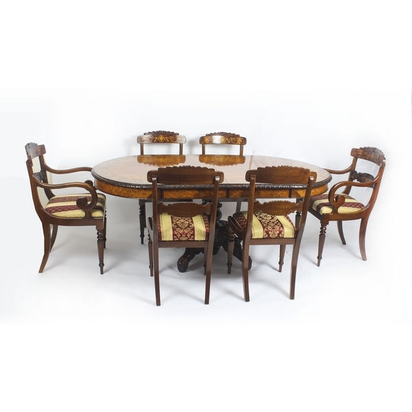 Antique Walnut Dining Tables – The Uk's Premier Antiques Portal Within Parquet 6 Piece Dining Sets (View 8 of 25)
