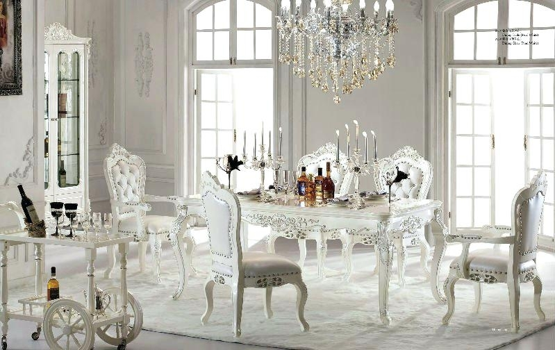Antique White Dining Room Sets Table Set Formal High Resolution Pertaining To White Dining Tables Sets (Image 3 of 25)