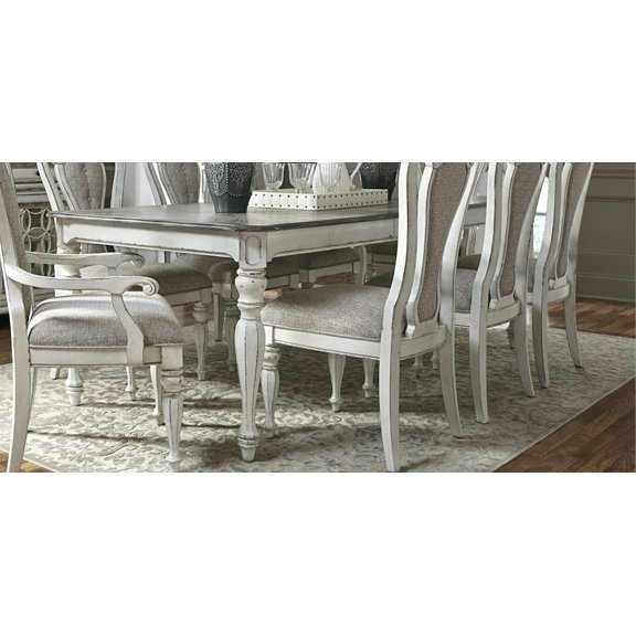 Antique White Dining Table – Magnolia Manor | Rc Willey Furniture Store Inside White Dining Tables (Image 1 of 25)