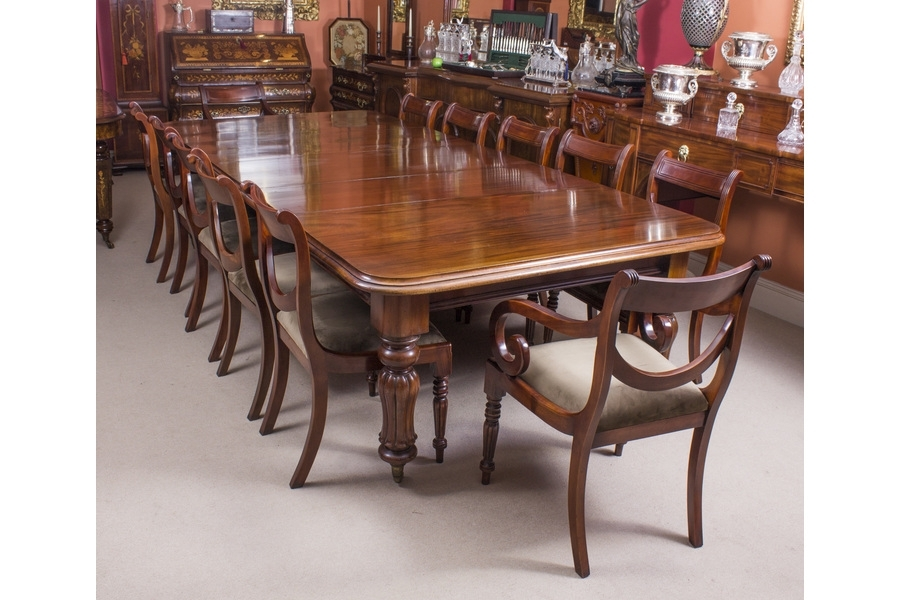 Antique William Iv Mahogany Dining Table & 10 Chairs | Vinterior With Mahogany Dining Tables And 4 Chairs (View 5 of 25)