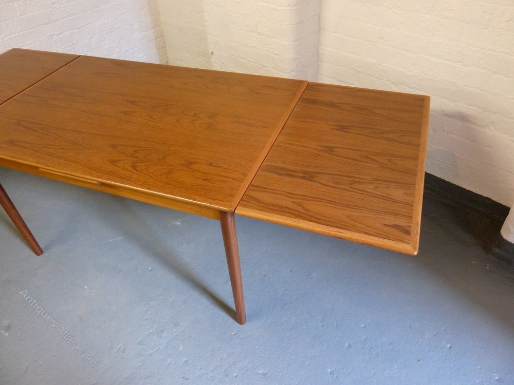 Antiques Atlas – Danish Teak Extending Dining Table C1960S Within Retro Extending Dining Tables (Image 4 of 25)