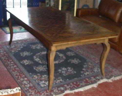 Antiques Atlas – French Oak Parquet Top Dining Table Pertaining To Parquet Dining Tables (Image 3 of 25)