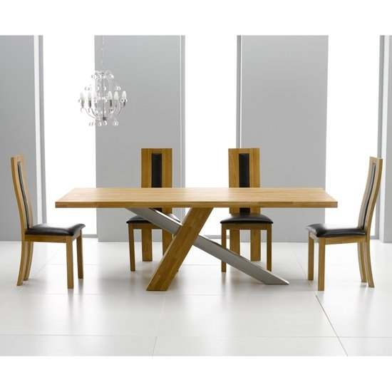 Antonio Solid Oak Dining Table And 6 Havana Dining Chairs For Havana Dining Tables (Image 1 of 25)