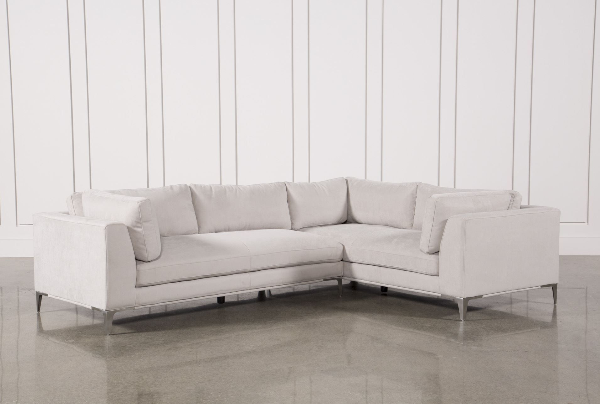 Apollo Light Grey 2 Piece Sectional | Living Space | Pinterest Pertaining To Cohen Down 2 Piece Sectionals (Image 1 of 25)