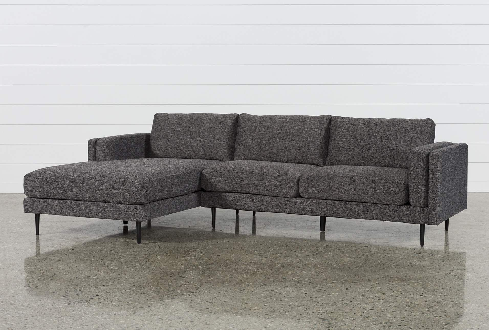 Aquarius Dark Grey 2 Piece Sectional W/laf Chaise | Pinterest In Aquarius Light Grey 2 Piece Sectionals With Raf Chaise (Image 4 of 25)