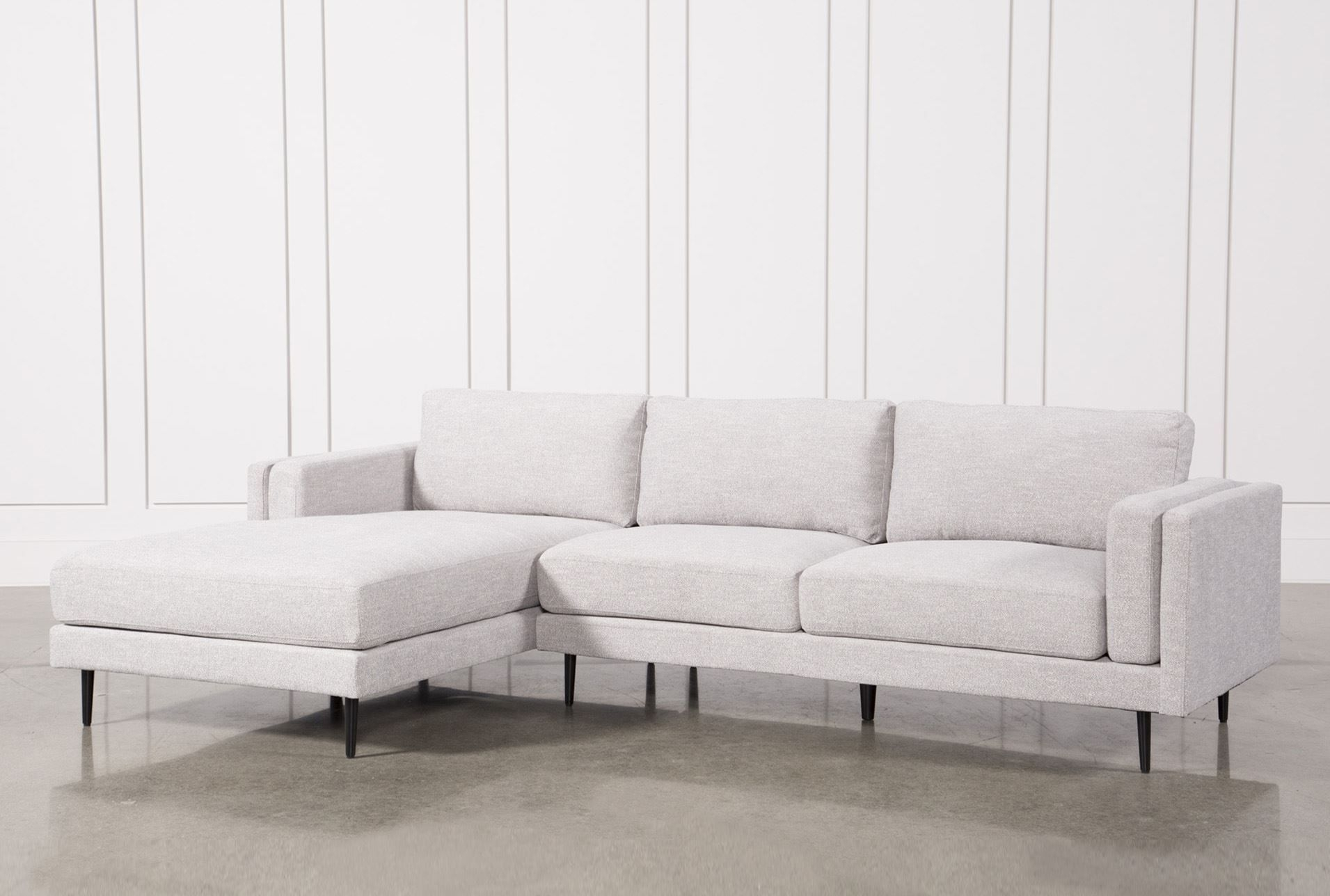 Aquarius Light Grey 2 Piece Sectional W/laf Chaise | Furniture In Nico Grey Sectionals With Left Facing Storage Chaise (Image 2 of 25)