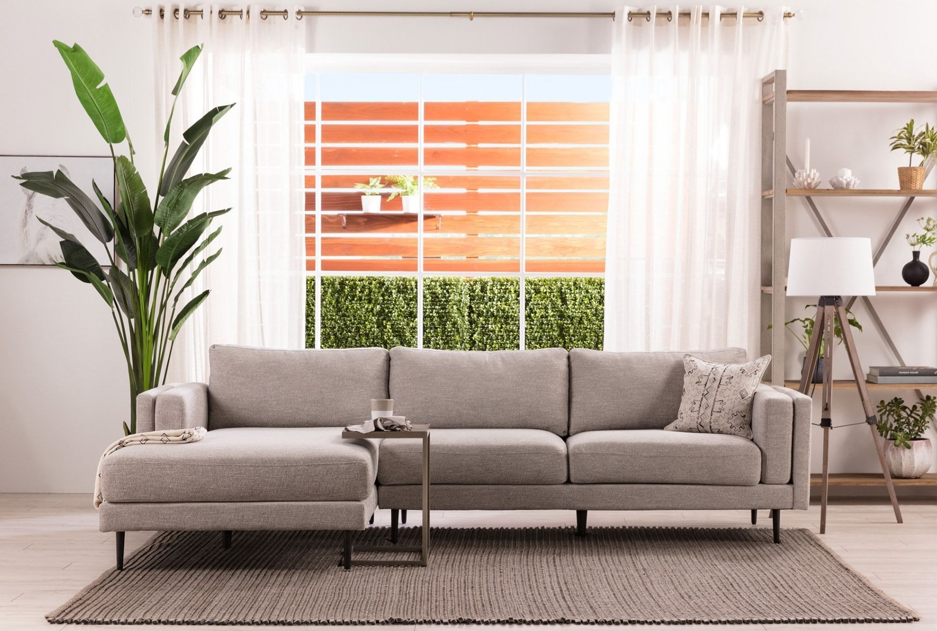 Featured Image of Aquarius Light Grey 2 Piece Sectionals With Laf Chaise