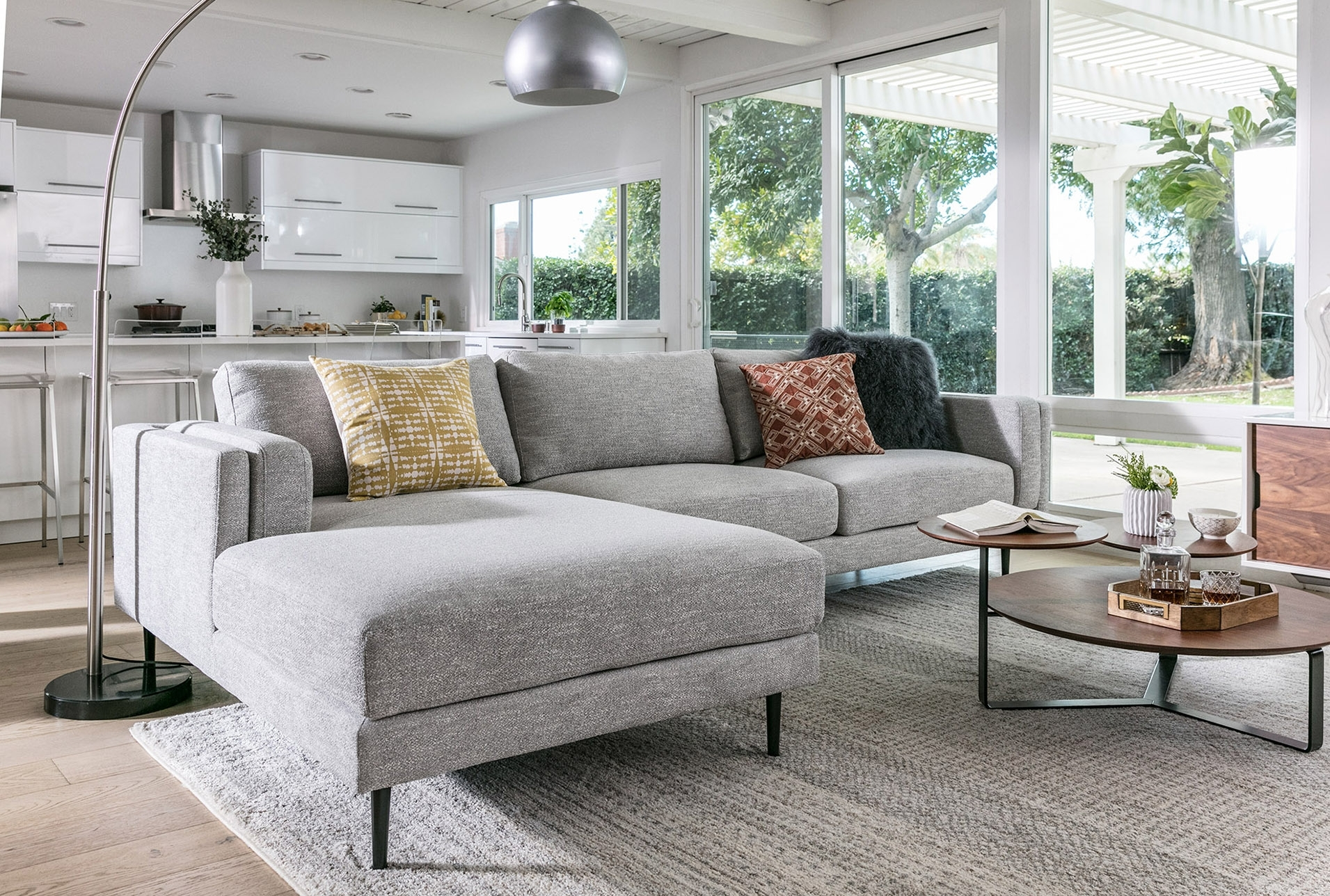 Aquarius Light Grey 2 Piece Sectional W/laf Chaise | Products In Aquarius Light Grey 2 Piece Sectionals With Laf Chaise (View 5 of 25)