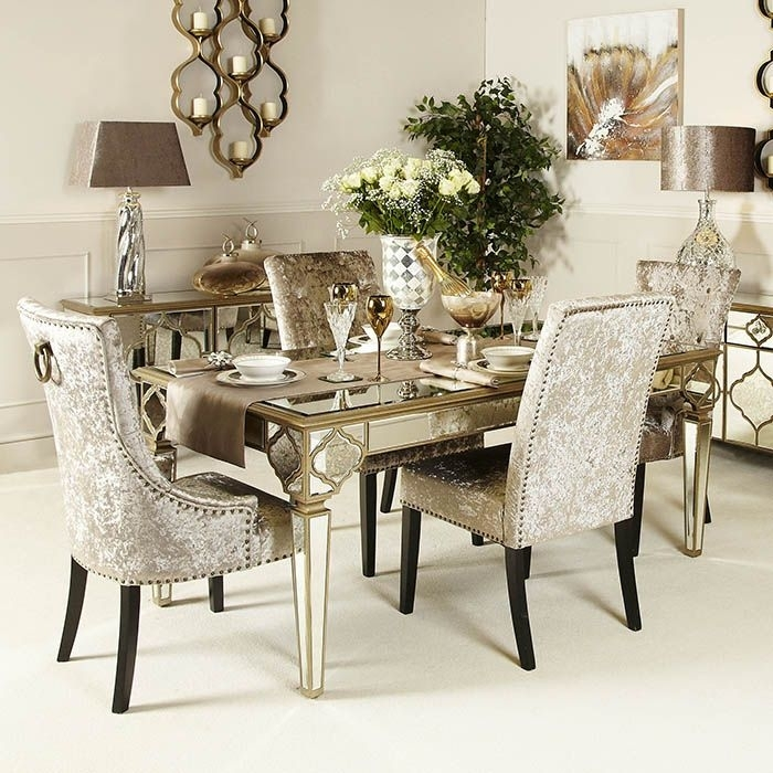 Arabian Mirrored Dining Table In Mirrored Dining Tables (View 6 of 25)