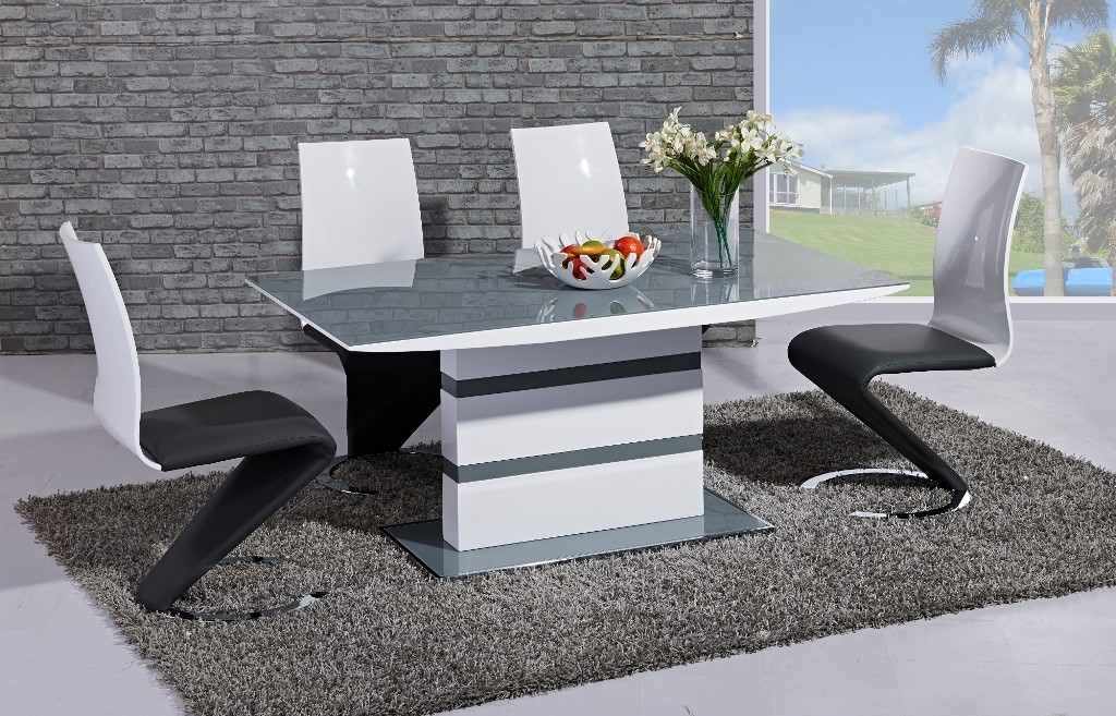 Arctic Dining Table With High Gloss Z Chairs – Home Living Intended For High Gloss White Dining Chairs (View 20 of 25)