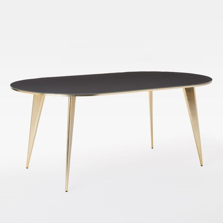Arden Oval Iron Mountain Brass Dining Table For Magnolia Home English Country Oval Dining Tables (View 18 of 25)