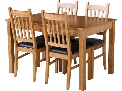 Argos Product Support For Cucina Oak Dining Table And 4 Chairs (Image 3 of 25)