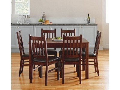 Argos Product Support For Cucina Walnut Dining Table And 6 Chairs In Walnut Dining Tables And 6 Chairs (Photo 9 of 25)