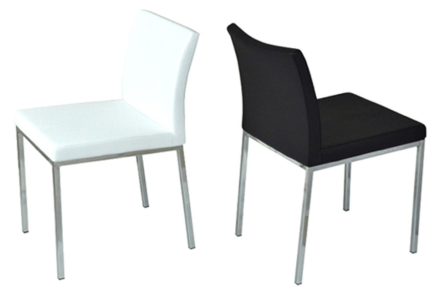 Aria Chrome Dining Chair | Viesso In Chrome Dining Chairs (Image 1 of 25)