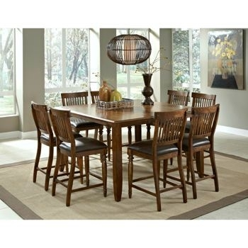 Arlington 9 Piece Counter Height Dining Set From Costco $ (Image 6 of 25)