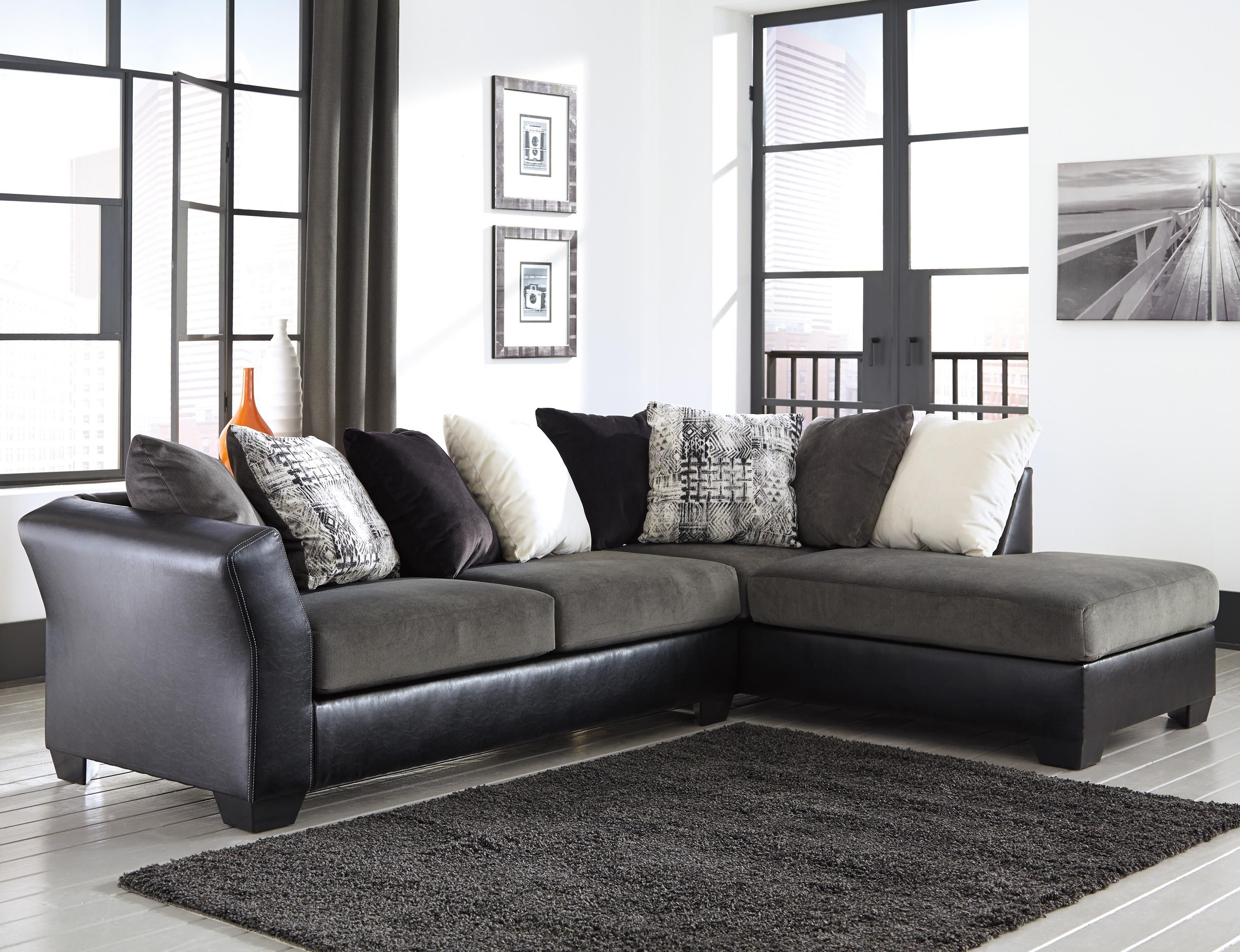 Armant 2 Piece Sectional With Right Chaisesignature Design In Cohen Down 2 Piece Sectionals (Image 2 of 25)