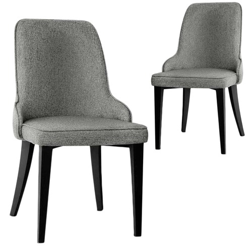 Arnault Fabric Dining Chairs | Temple & Webster Pertaining To Fabric Dining Chairs (Image 2 of 25)