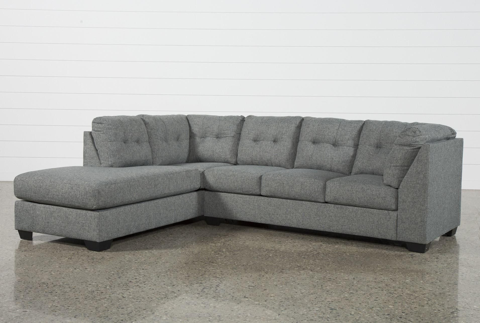 Arrowmask 2 Piece Sectional W/sleeper & Left Facing Chaise In Lucy Dark Grey 2 Piece Sectionals With Raf Chaise (View 9 of 25)