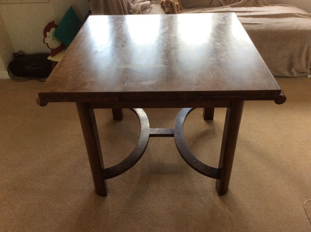 Art Deco Design Mahogany Extending Dining Table (Image 8 of 25)