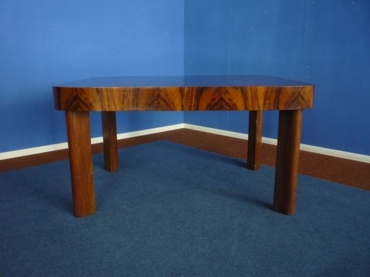 Art Deco Extendable German Walnut Dining Table, 1930S For Sale At Pamono In Walnut Dining Tables (Image 1 of 25)