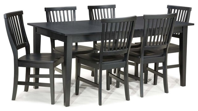 Arts And Crafts 7 Piece Dining Set – Transitional – Dining Sets – Inside Walden 7 Piece Extension Dining Sets (Image 2 of 25)