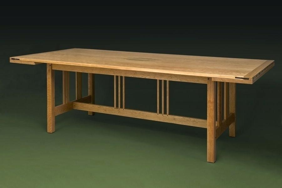 Arts And Crafts Style Dining Table Arts Crafts Dining Table Round Pertaining To Craftsman Round Dining Tables (Image 3 of 25)